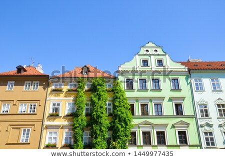 Szczegół zdumiewający fasada tradycyjny budynku Praha Zdjęcia stock © CaptureLight