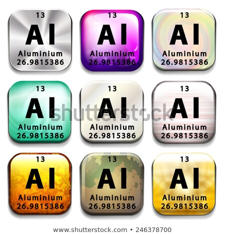 An icon showing the chemical Aluminium Stock photo © bluering