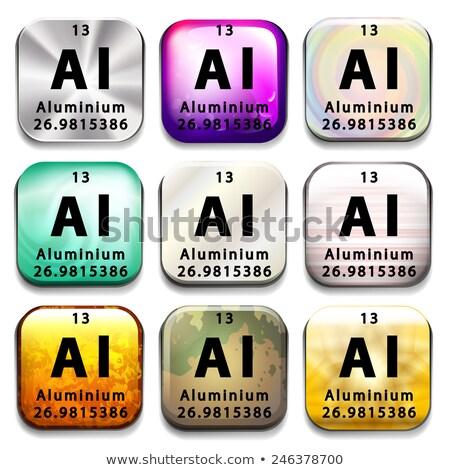 アイコン 化学 アルミ 白 技術 ストックフォト © bluering