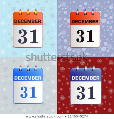 Szett tép el naptár illusztráció vektor Stock fotó © orensila