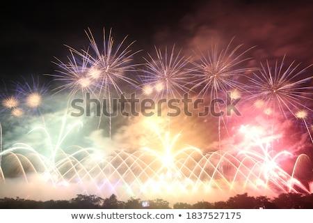 Сток-фото: Dramatic Fireworks Display