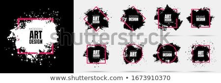 zwart · wit · grens · inkt · spray · witte · exemplaar · ruimte - stockfoto © nicemonkey
