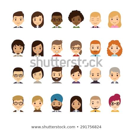 Photo stock: Asian · gens · d'affaires · simple · vecteur · équipe · commerciale