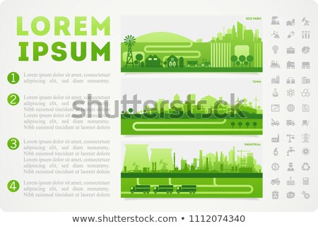 Vector nuclear Infographic report template  Stock photo © orson