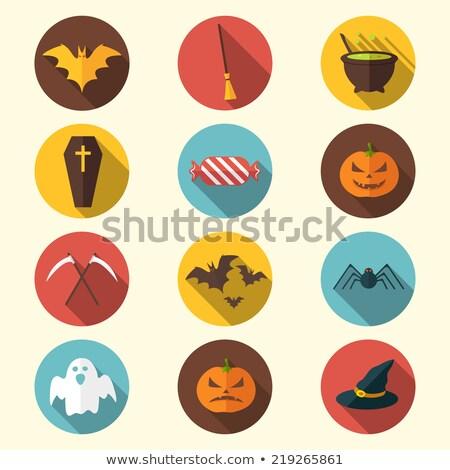 halloween flat icons design stock photo © kali