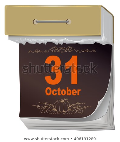 Stok fotoğraf: October 31 Halloween Black Sheet Tear Off Calendar