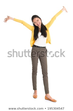 Southeast Asian girl celebrating success Stock photo © szefei