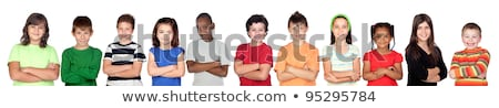 young pretty girl blond teenager on white isolated blond happy s stock photo © iordani
