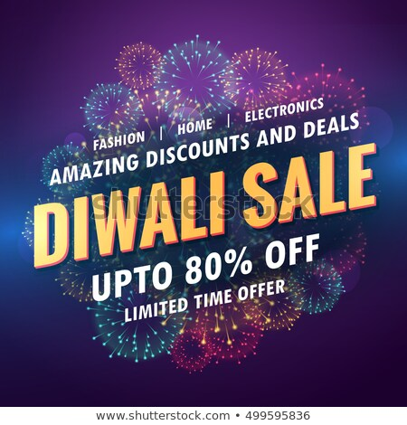 amazing diwali sale discount with glowing diya Stock photo © SArts