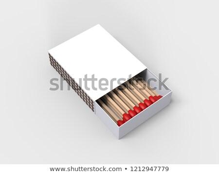 Livro fechado fósforos madeira azul dicas Foto stock © albund