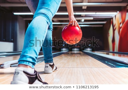 Rack Of Colorful Balls At A Bowling Alley Stock photo © Jasminko