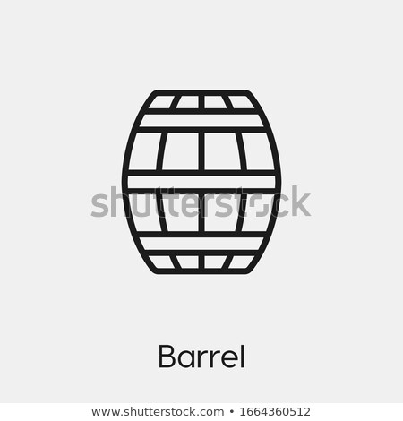 beer barrel icon flat style stock photo © ylivdesign