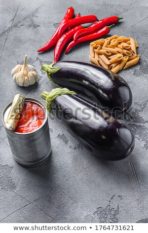 Espaguetis a la parrilla berenjena rebanada placa tenedor Foto stock © Digifoodstock