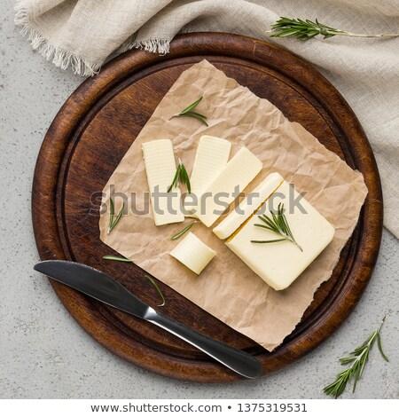 Fresco manteiga comida fundo branco Foto stock © Digifoodstock