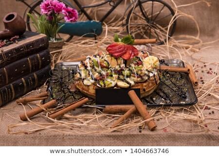 Fruit gezonde voeding fietser paardrijden fiets Stockfoto © Fisher