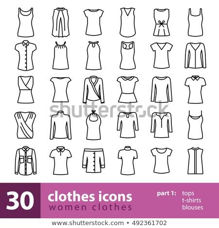 Sleeveless blouse line icon. Stock photo © RAStudio