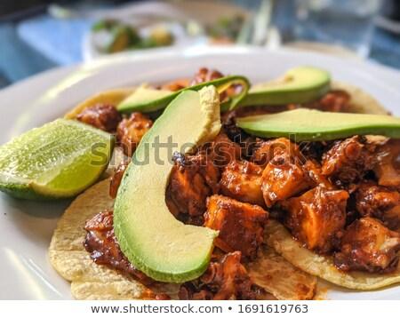 Fresh taco Stock photo © racoolstudio