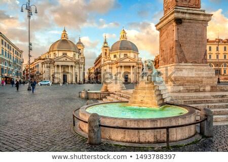 Egyptian Obelisk in Piazza del Popolo, Rome Stock photo © ankarb