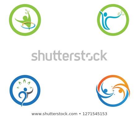 Humanismo logotipo assinar negócio Foto stock © Ggs