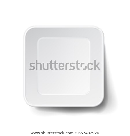 Vector Modern White Plastic Tray. Mock Up Good For Branding Marketing. Stock photo © pikepicture