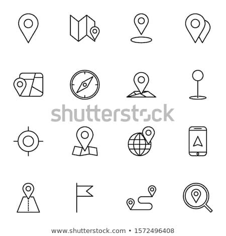 Rota planejamento linha ícone vetor isolado Foto stock © RAStudio