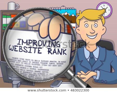 Improving Website Rank through Magnifier. Doodle Style. Stock photo © tashatuvango