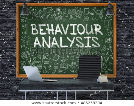 Chalkboard on the Office Wall with Behaviour Analysis Concept. 3D. Stock photo © tashatuvango