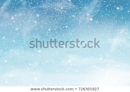 Queda neve azul inverno flocos de neve céu Foto stock © Andrei_