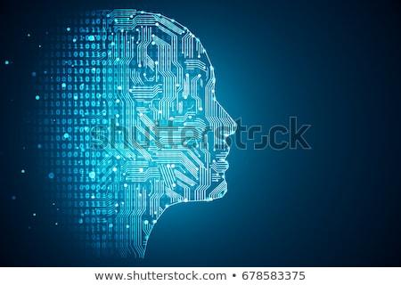 人工知能 3D 考え フォーム 電球 デジタル ストックフォト © Olena