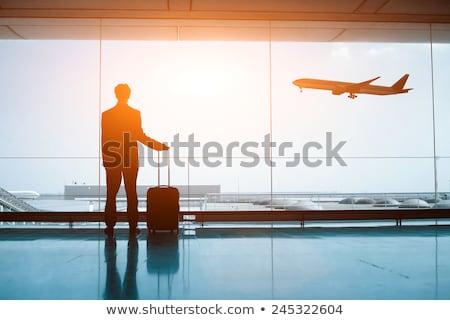 Zakenman klaar zakenreis pak koffer Stockfoto © LightFieldStudios