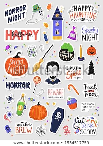 halloween · simgeler · renkli · korkutucu · siluet · siyah - stok fotoğraf © nadia_snopek