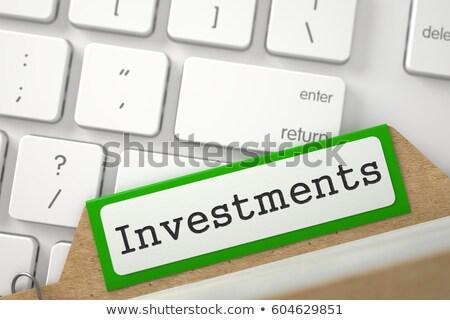 Folder Index with Inscription Business Innovation. 3D. Stock photo © tashatuvango