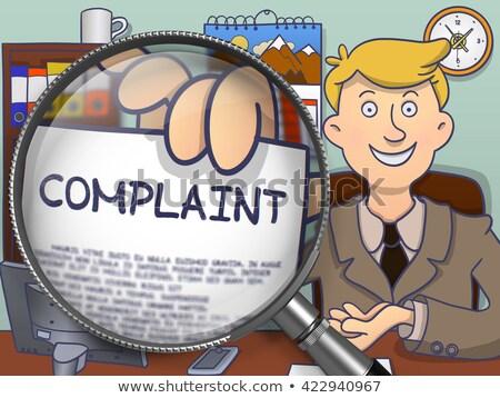 Complaints through Lens. Doodle Concept. Stock photo © tashatuvango