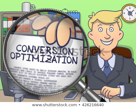 Website Optimization through Magnifier. Doodle Concept. Stock photo © tashatuvango