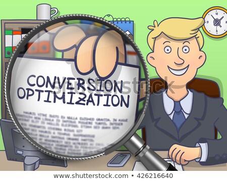website optimization through magnifier doodle concept stock photo © tashatuvango