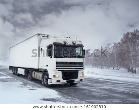 Blanche camion glace route blizzard fret Photo stock © ssuaphoto