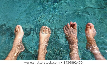 Familie tenen zwembad man leuk jongen Stockfoto © IS2