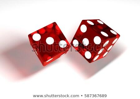 Stockfoto: Casino · dobbelstenen · geïsoleerd · witte · 3D