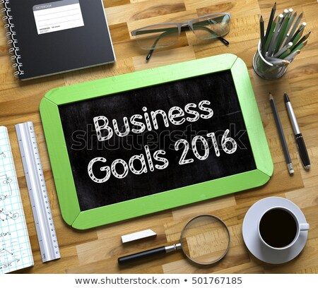 Business Goals 2016 on Small Chalkboard. 3D. Stock photo © tashatuvango