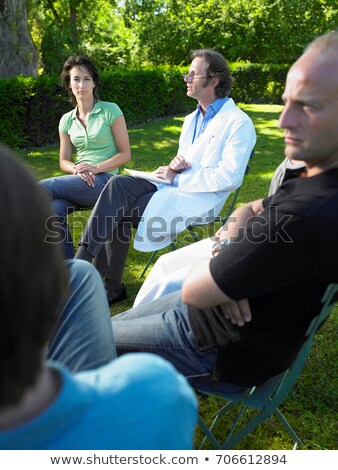 Circle of people in rehab,  outdoors Stock photo © IS2