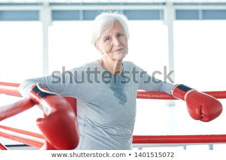 старший женщину бокса осуществлять спорт фитнес Сток-фото © IS2