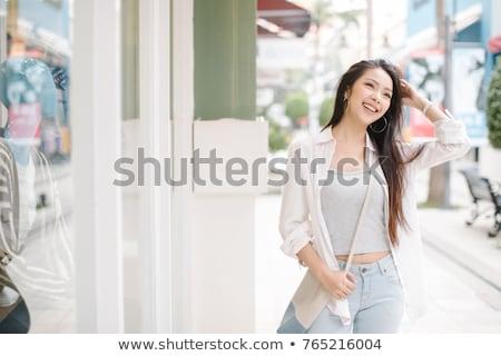 Asia mujer verano retrato atractivo deportivo Foto stock © artfotodima