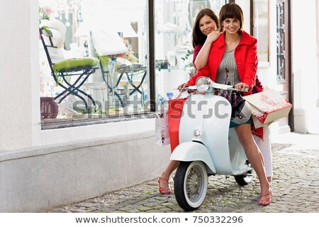 shoppingtour on a motor scooter Stock photo © IS2