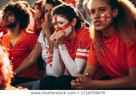 Group of nervous football supporters Stock photo © IS2