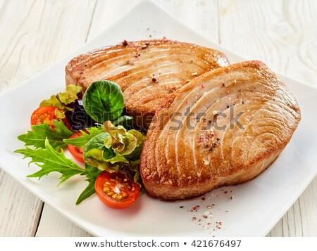 fried tuna fish Stock photo © M-studio