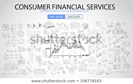 электронной коммерции решения болван иконки доске Сток-фото © tashatuvango