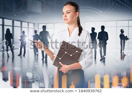 data on office folder toned image stock photo © tashatuvango