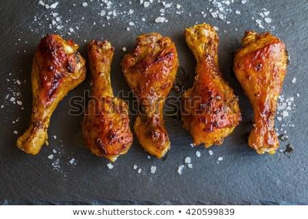 frango · comida · fundo · verde · carne - foto stock © yelenayemchuk