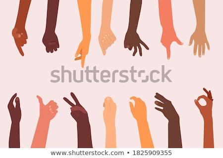 средний пальца назад женщину стороны Сток-фото © luissantos84