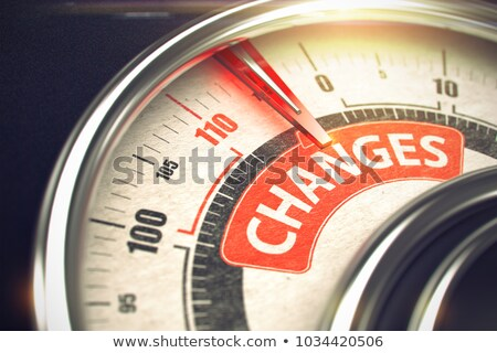 Progress on Conceptual Gauge with Red Needle. 3D. Stock photo © tashatuvango